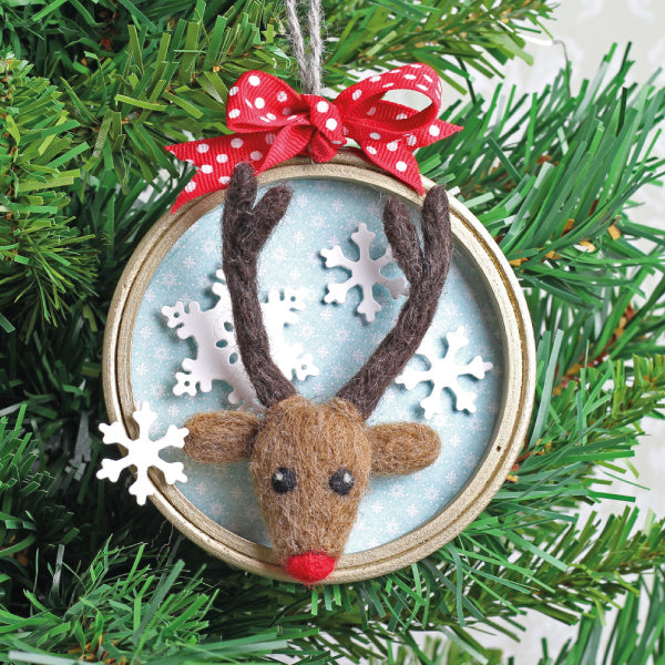 Needle Felted Rudolph Tree Decoration