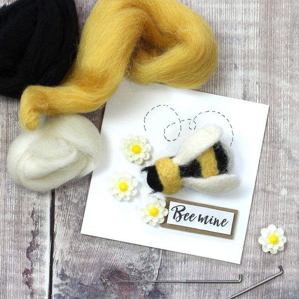 Needle Felted Bee Brooch Gift Card