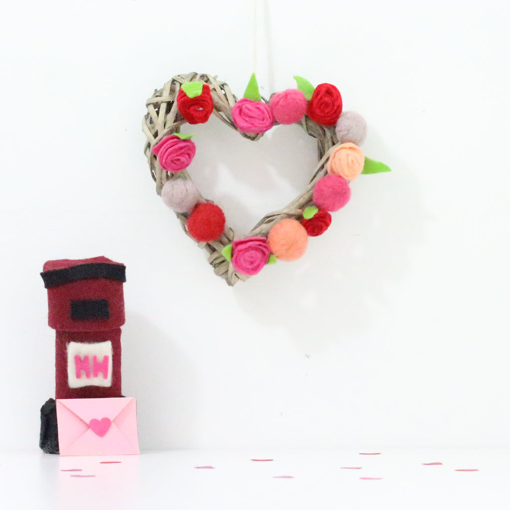 Felted Valentine's Wreath