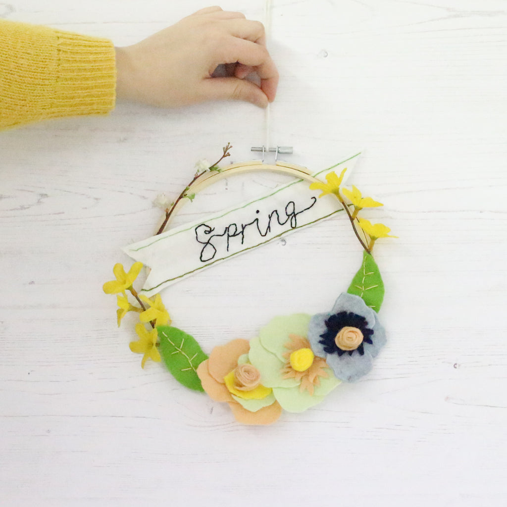 Upcycled Spring Wreath