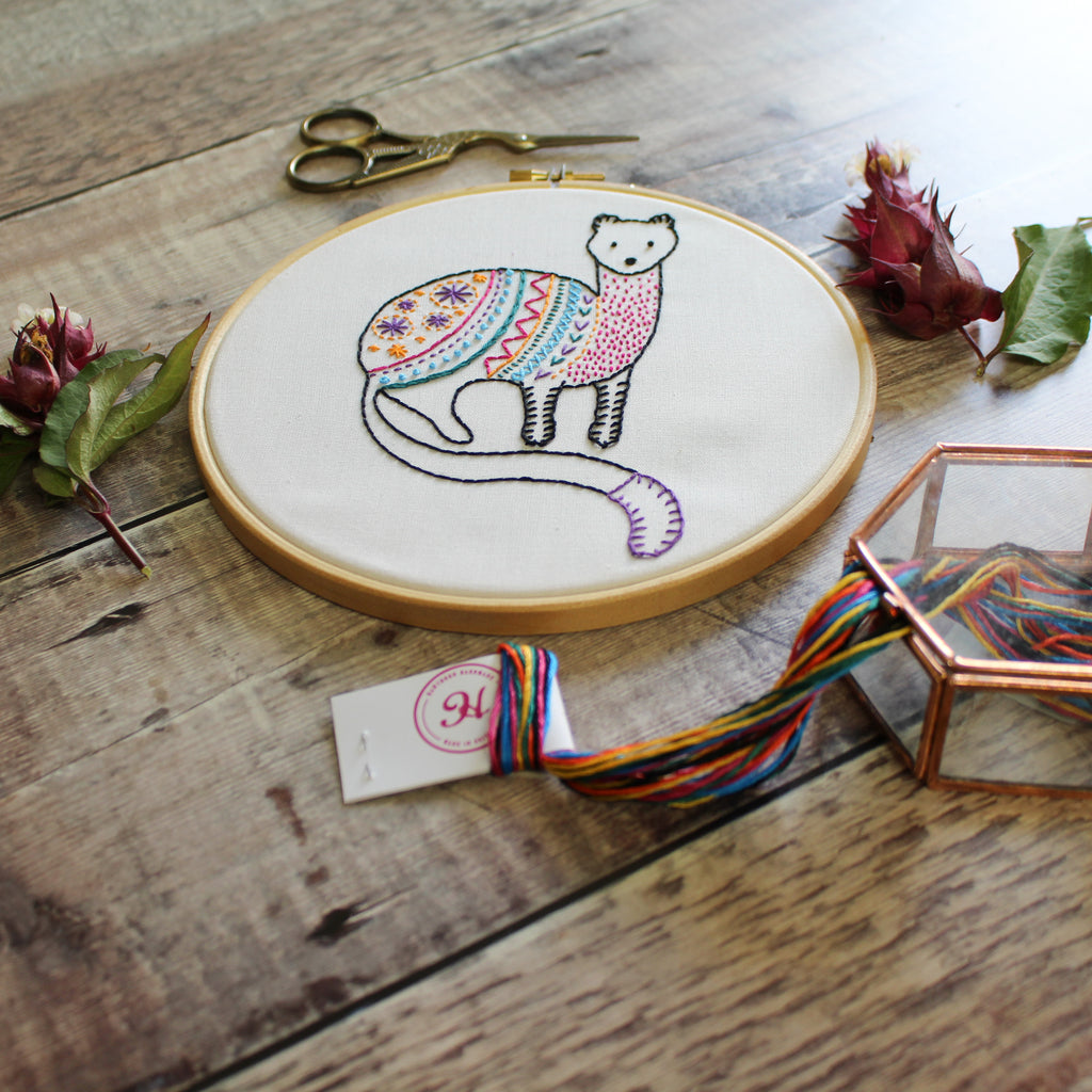 Spotlight Product - Stoat Contemporary Embroidery Kit