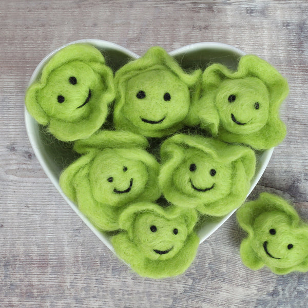 Needle Felted Brussel Sprout Tutorial