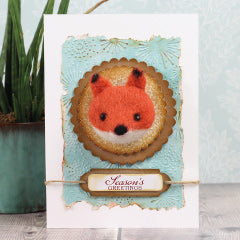 Needle Felted Fox Card - Hawthorn Handmade