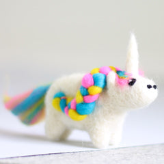 Hawthorn Handmade Needle Felted Unicorn kit