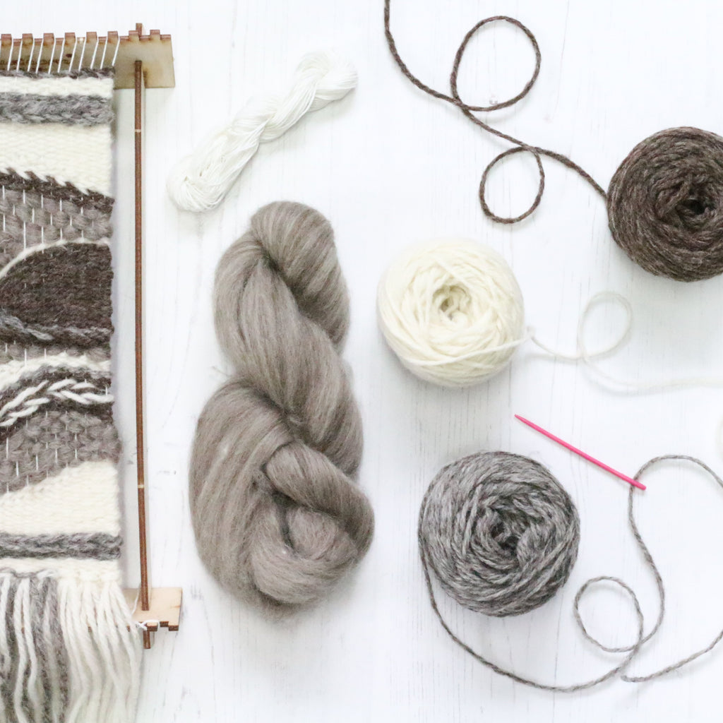Weaving inspiration Natural wool tones supply pack