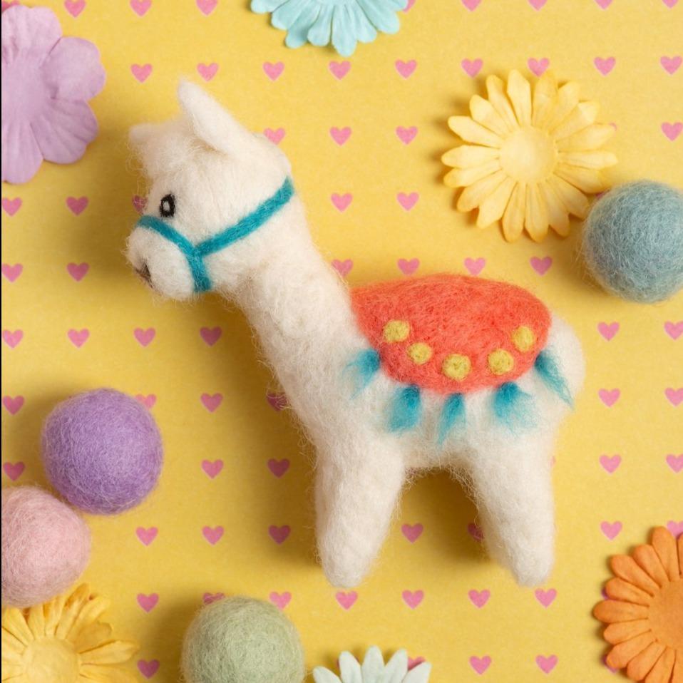 Alpaca Mini Needle Felting Kit