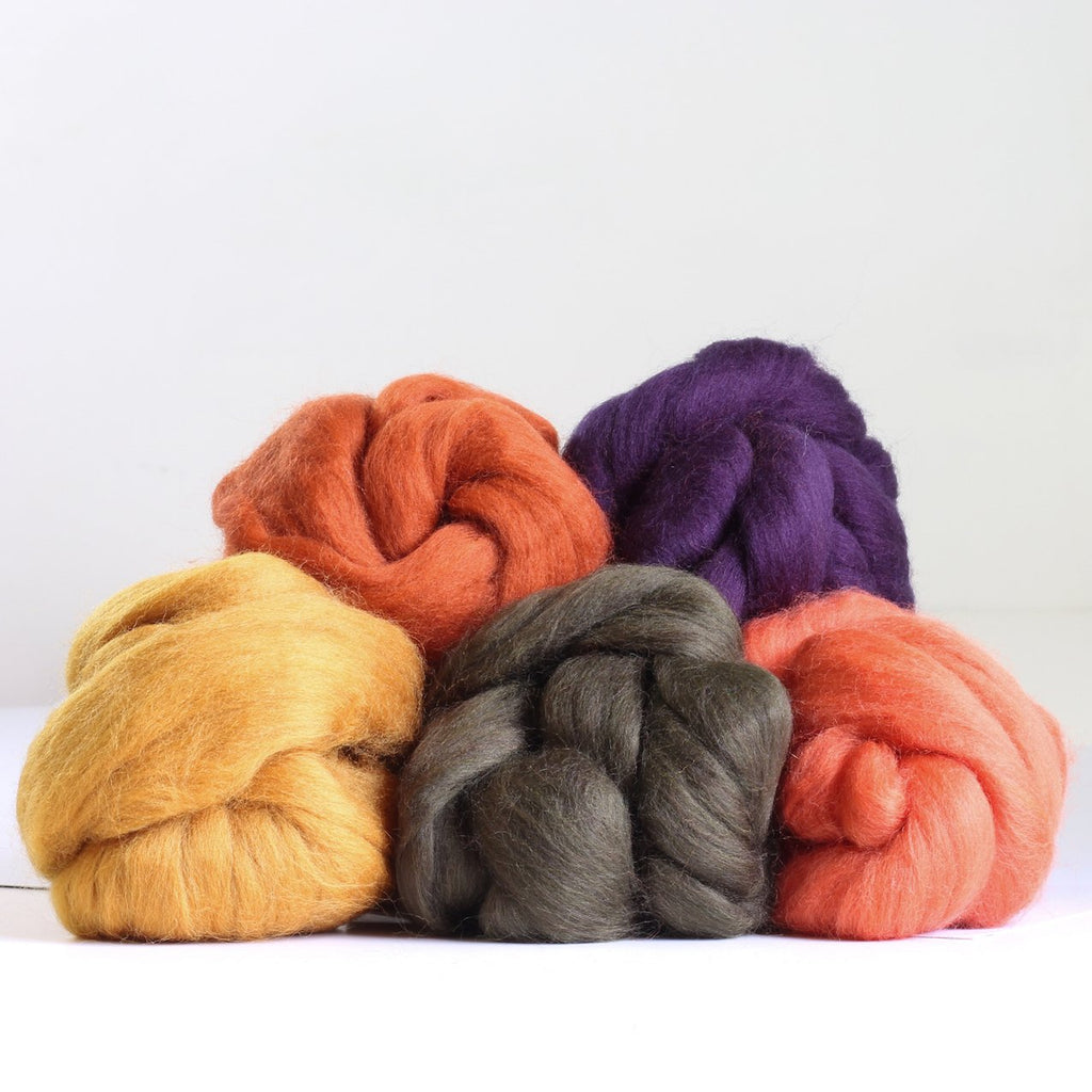Autumn Colous wool balls piled uo