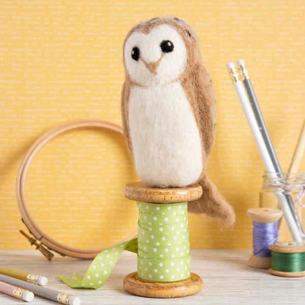 Barn Owl Needle Felting Kit