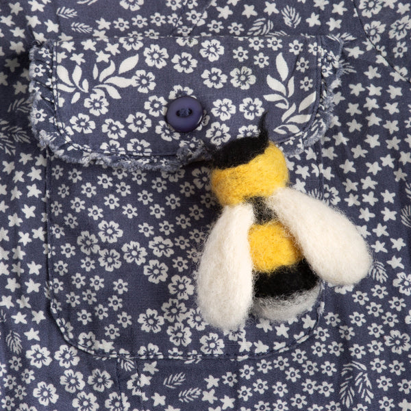 Bee Brooch Needle Felting Kit