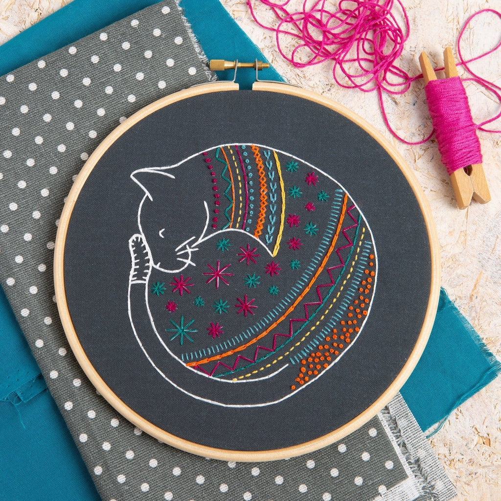 Black Cat Embroidery Kit