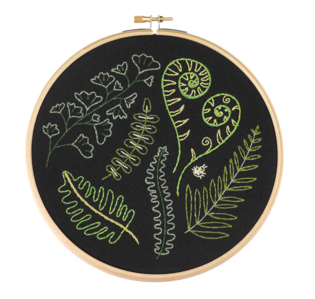 Black Forest Ferns Embroidery Kit