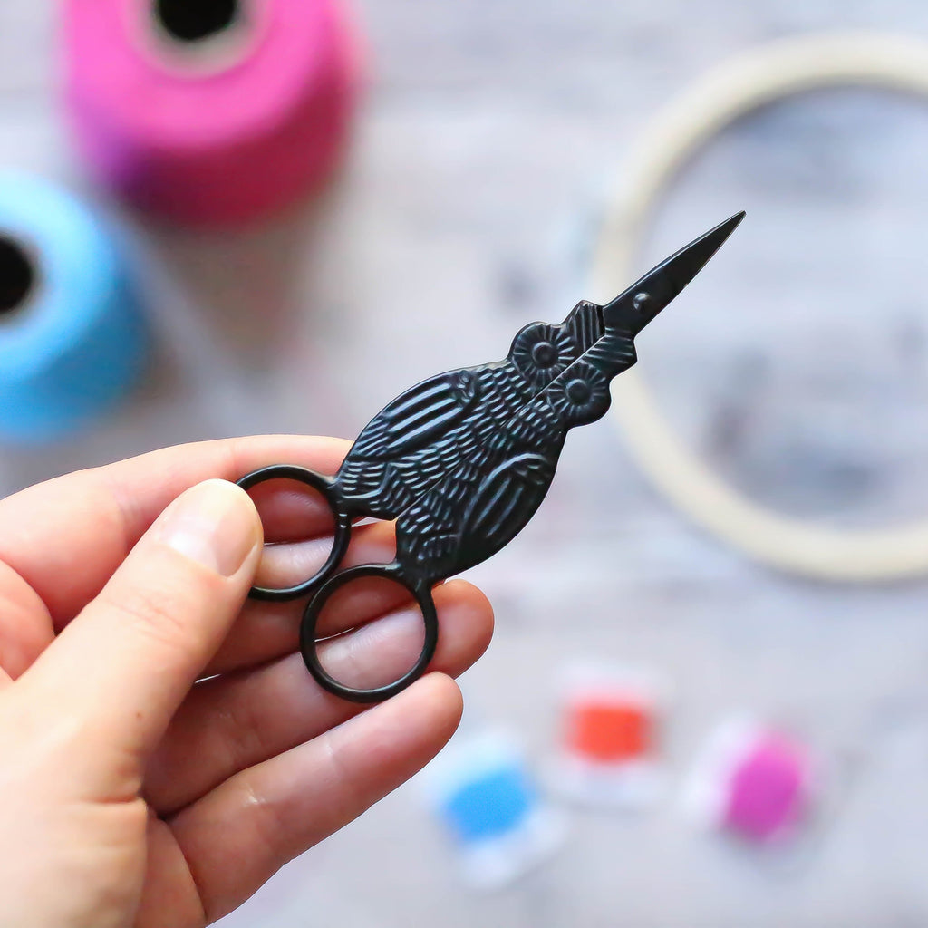 Black Owl Embroidery Scissors