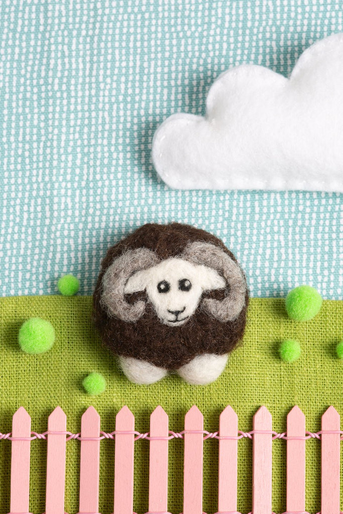 Black Sheep Brooch Felting Kit