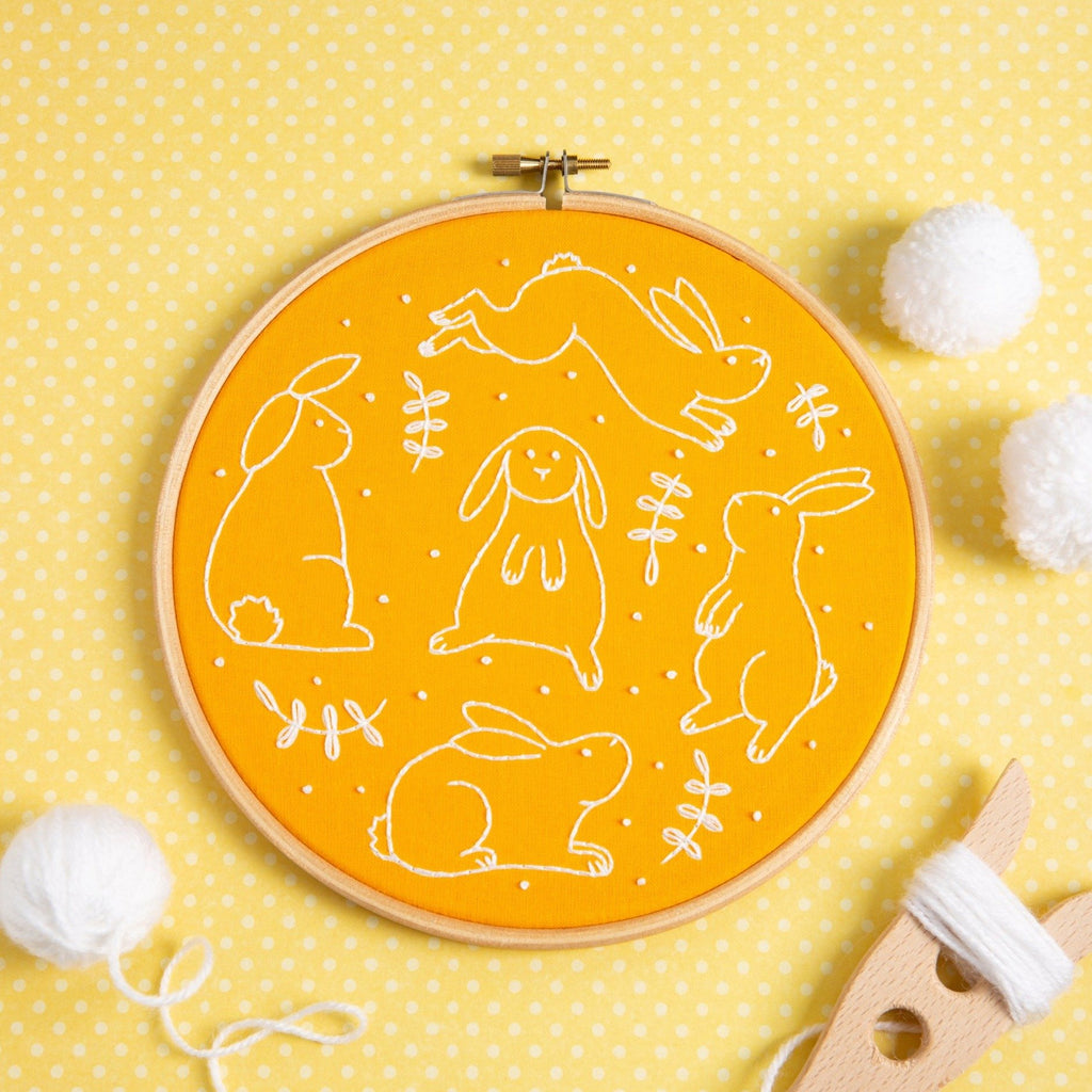 Bouncing Bunnies Embroidery Kit
