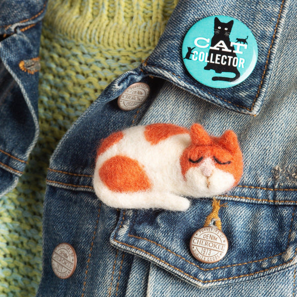 Cat Brooch Needle Felting Kit