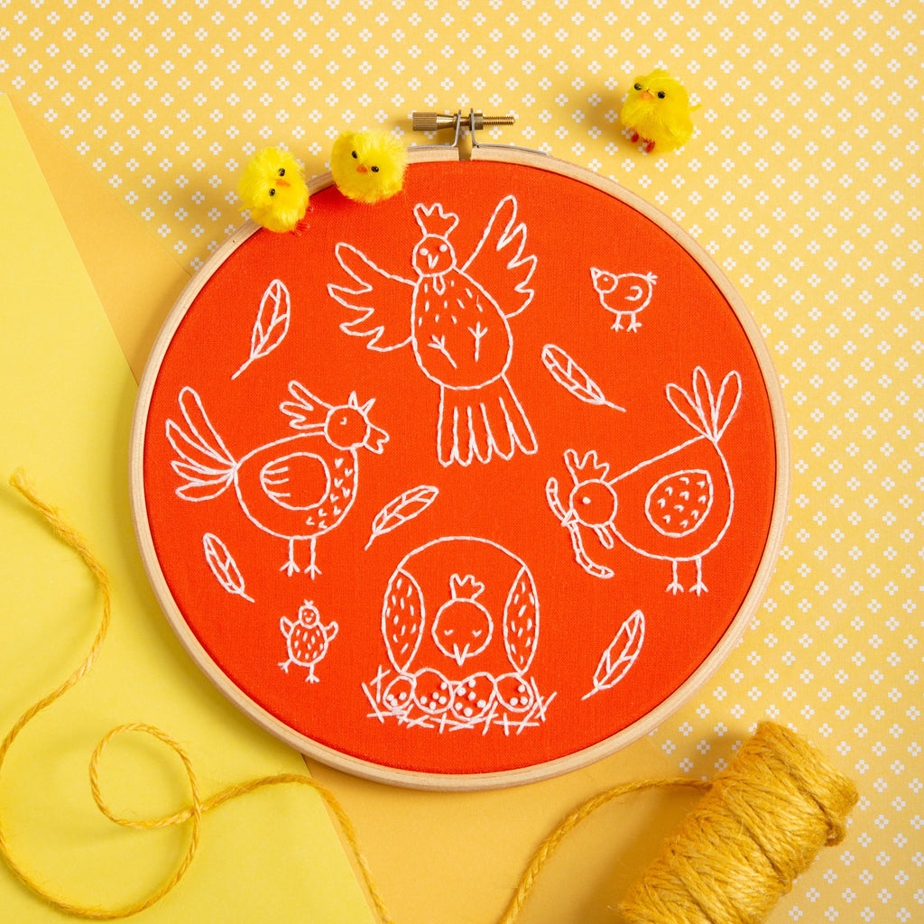 Charming Chickens Embroidery Kit