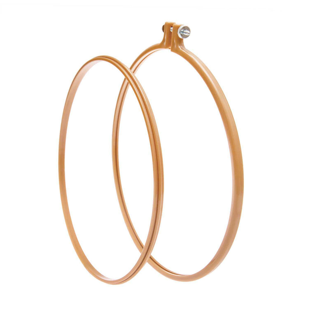 "Coloured Plastic Embroidery Hoop 9"" - Mustard"
