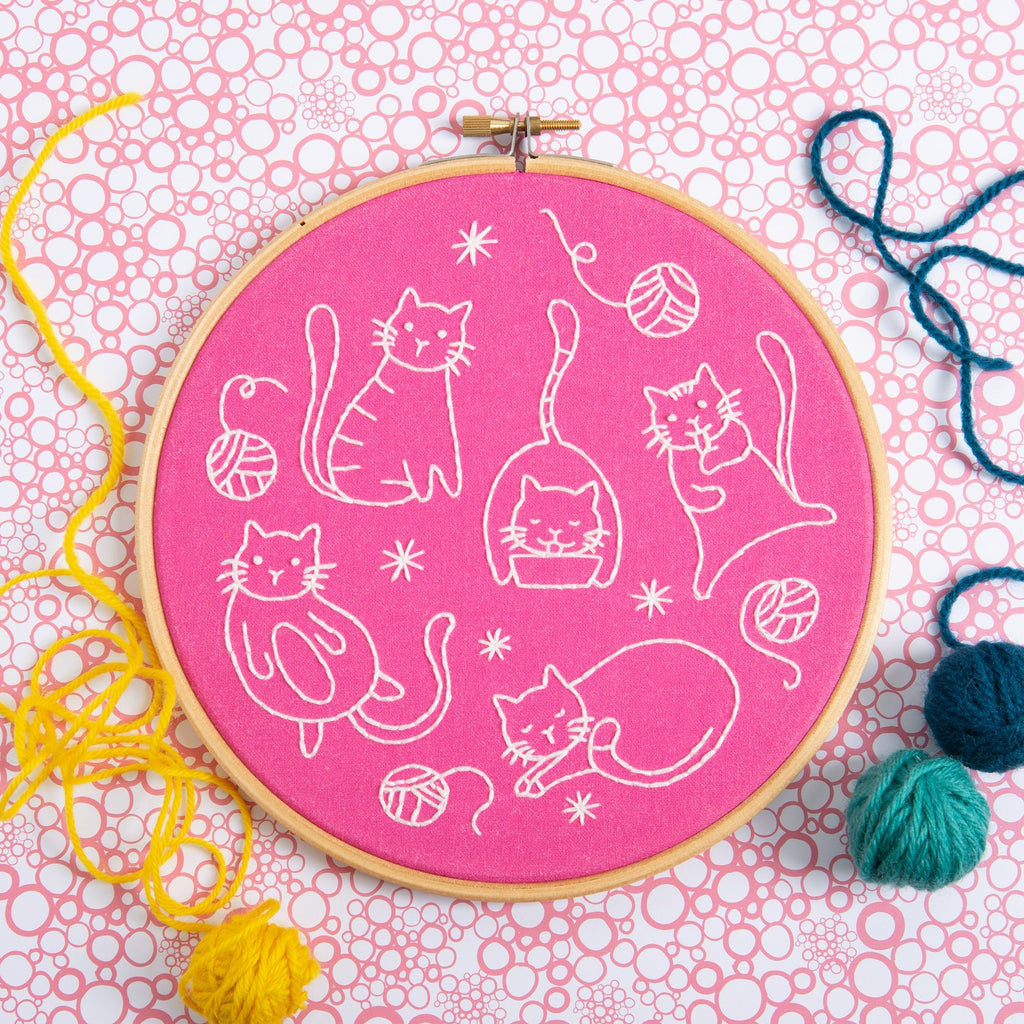 Crafty Cats Embroidery Kit