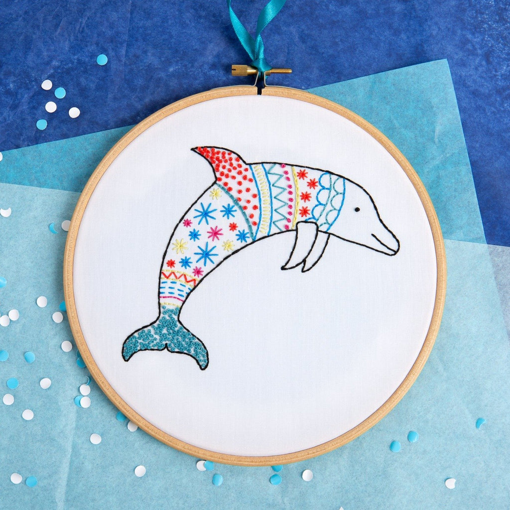 Dolphin Embroidery Kit