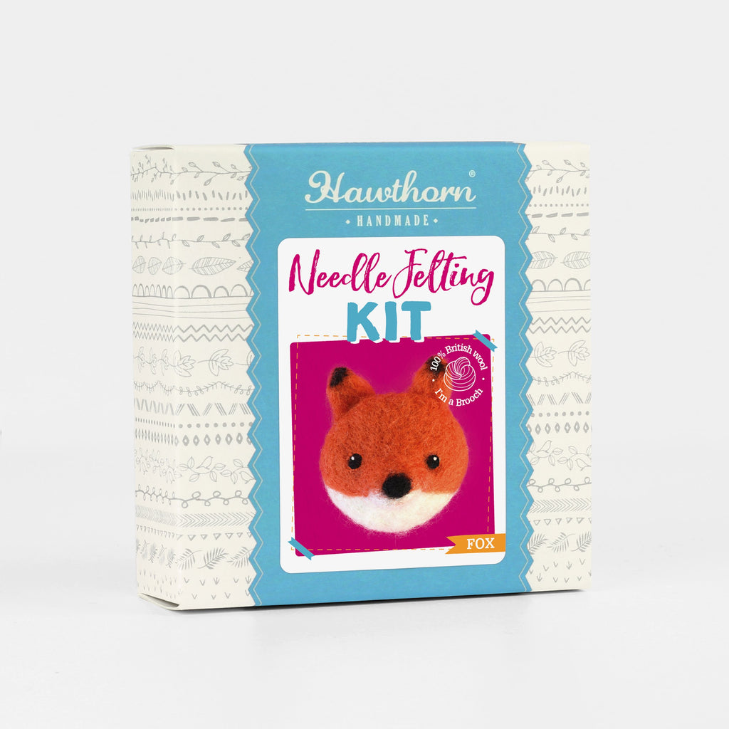 Fox Brooch Felting Kit