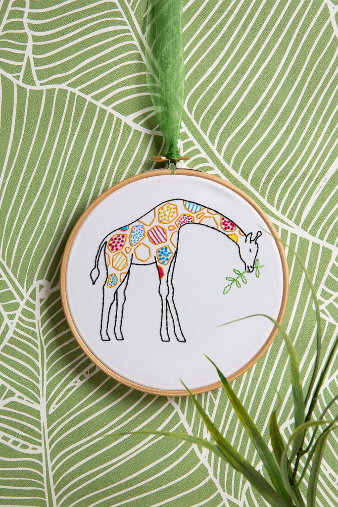 Giraffe Embroidery Kit