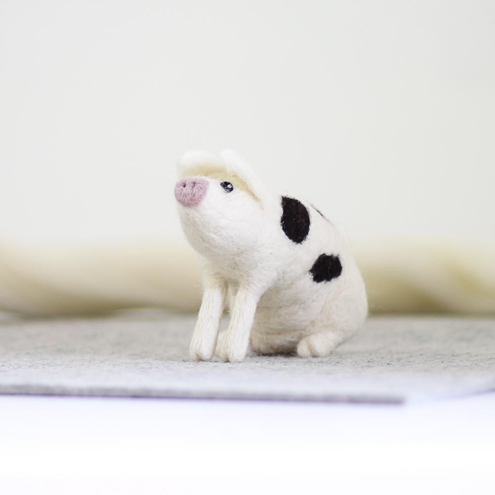 Gloucester Old Spot Pig Needle Felting Kit