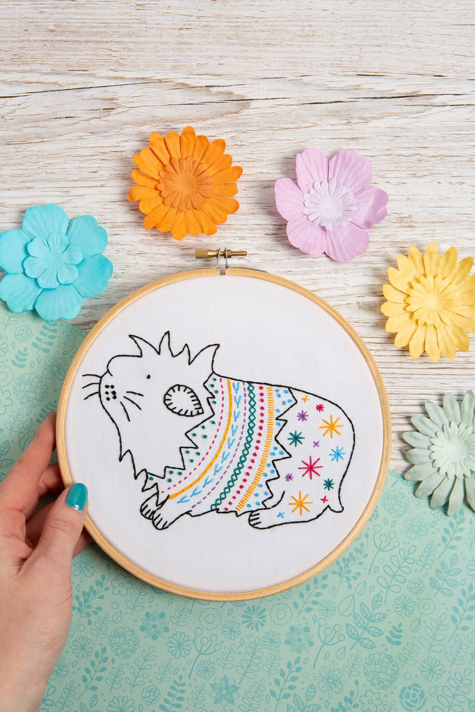 Guinea Pig Embroidery Kit