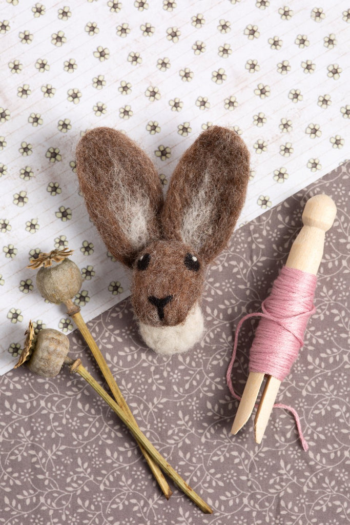Hare Brooch Needle Felting Kit