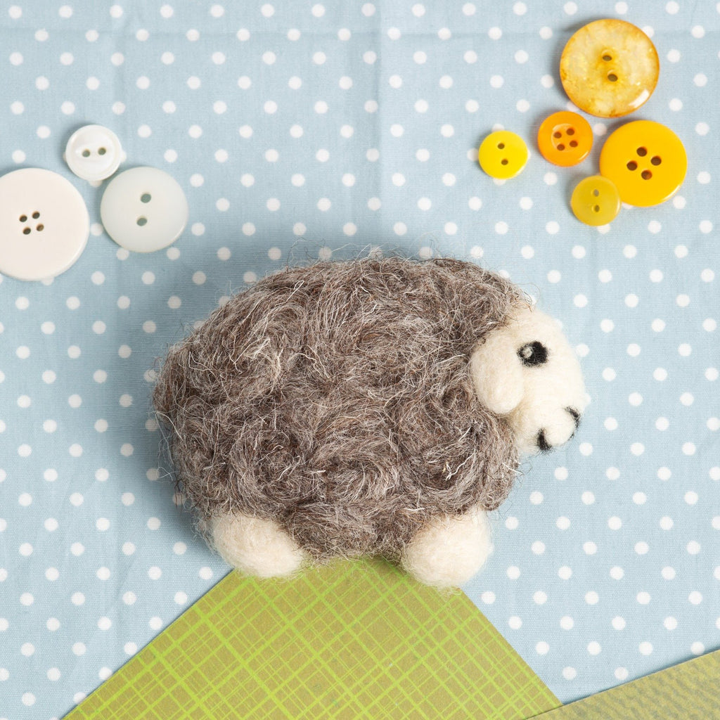 Herdwick Sheep Brooch Needle Felting Kit