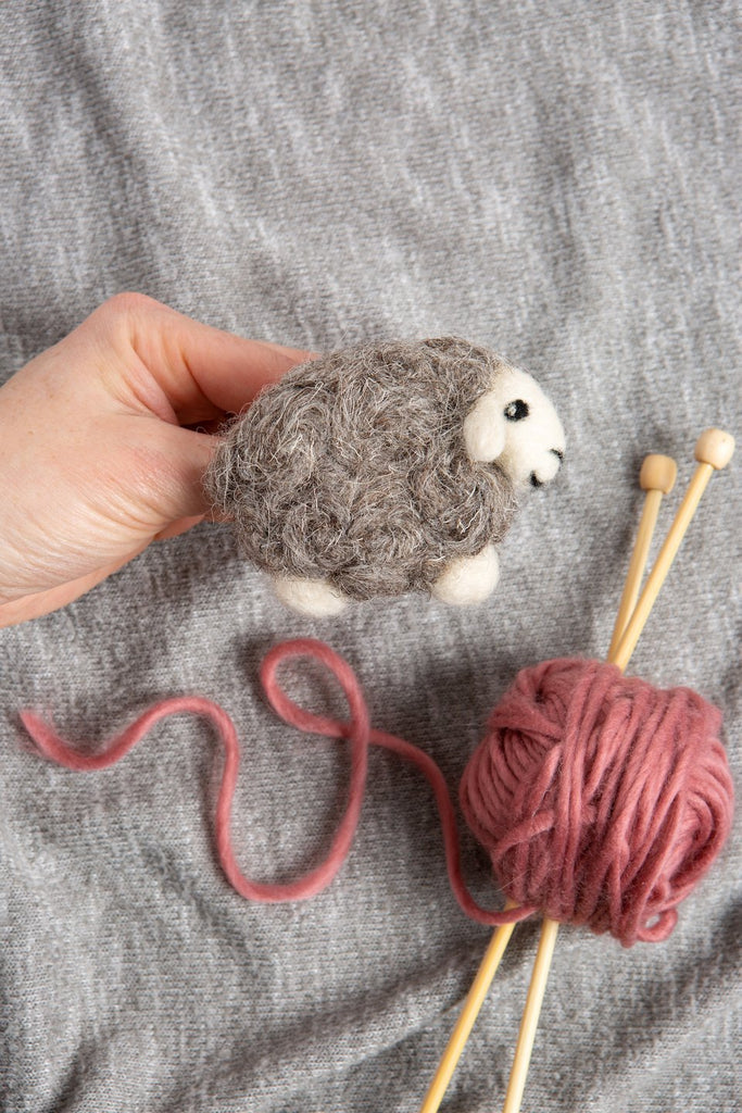 Sheep Brooch Needle Felting Kit