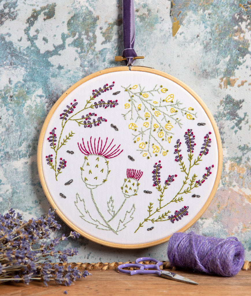 Highland Heathers Embroidery Kit