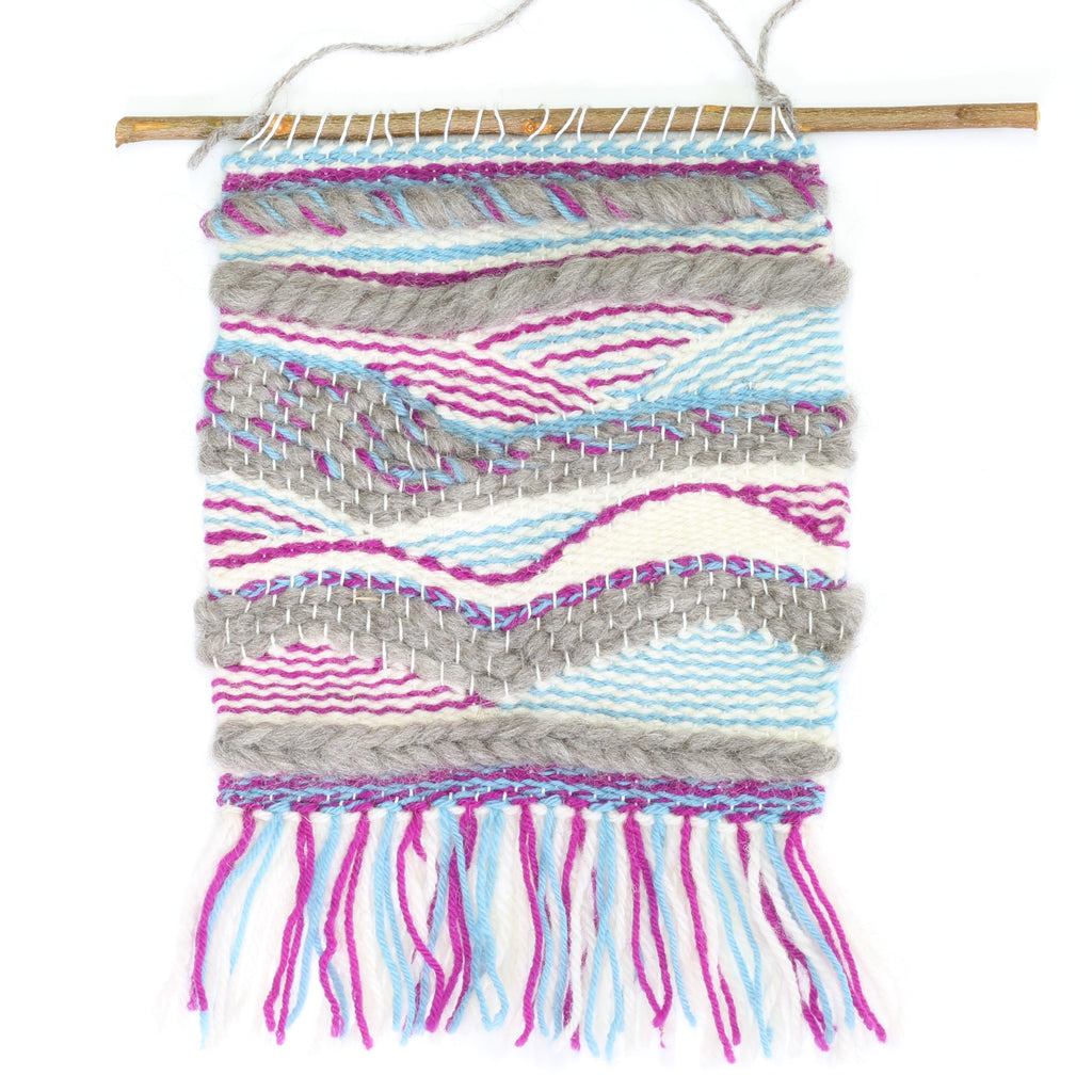 Loom - Weaving Supply Pack - Sky Blue & Fuchsia