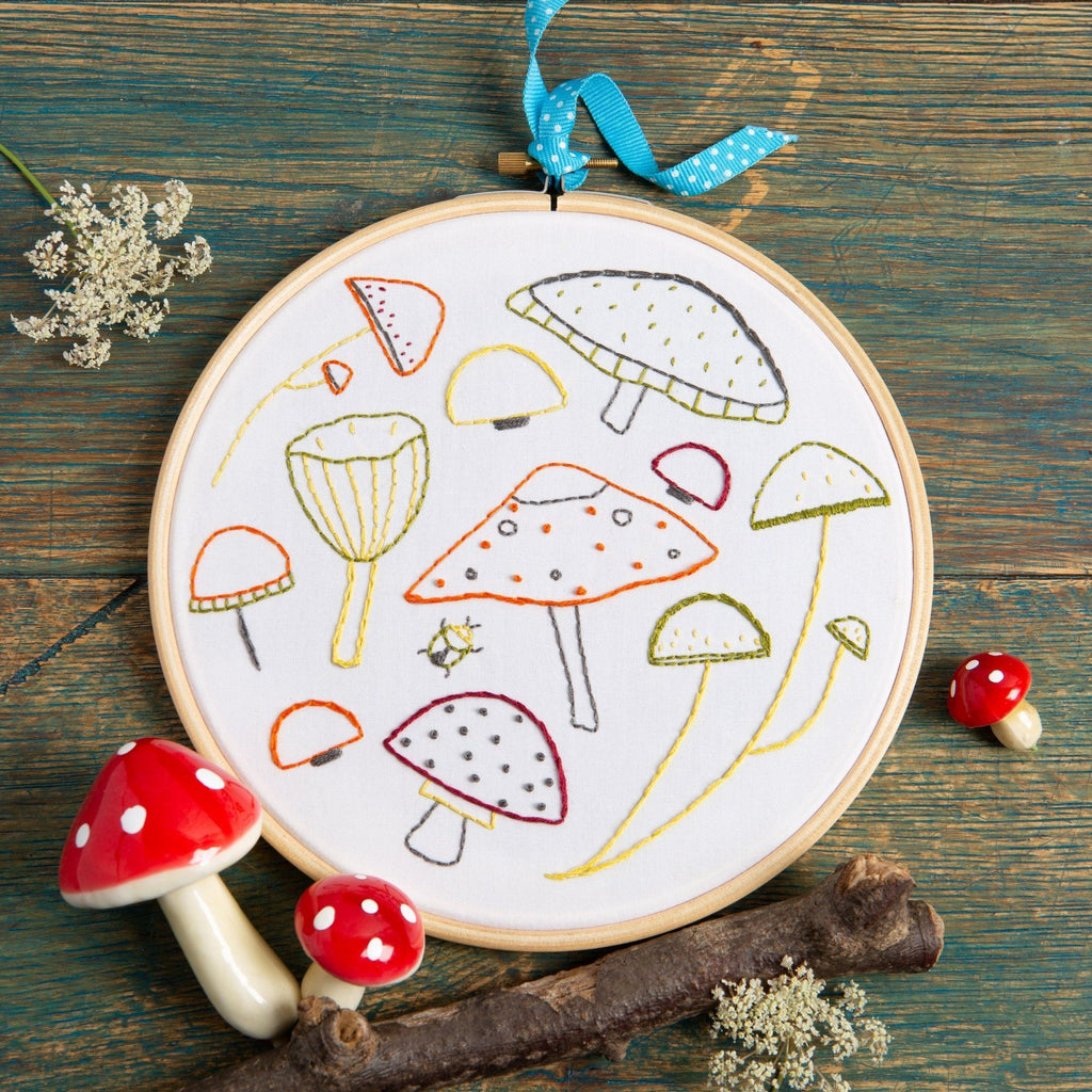 Marvellous Mushrooms Embroidery Kit
