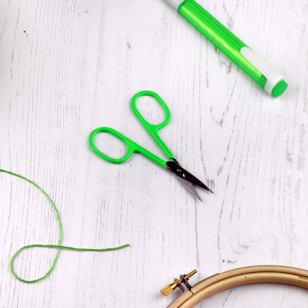 Neon Green Embroidery Scissors