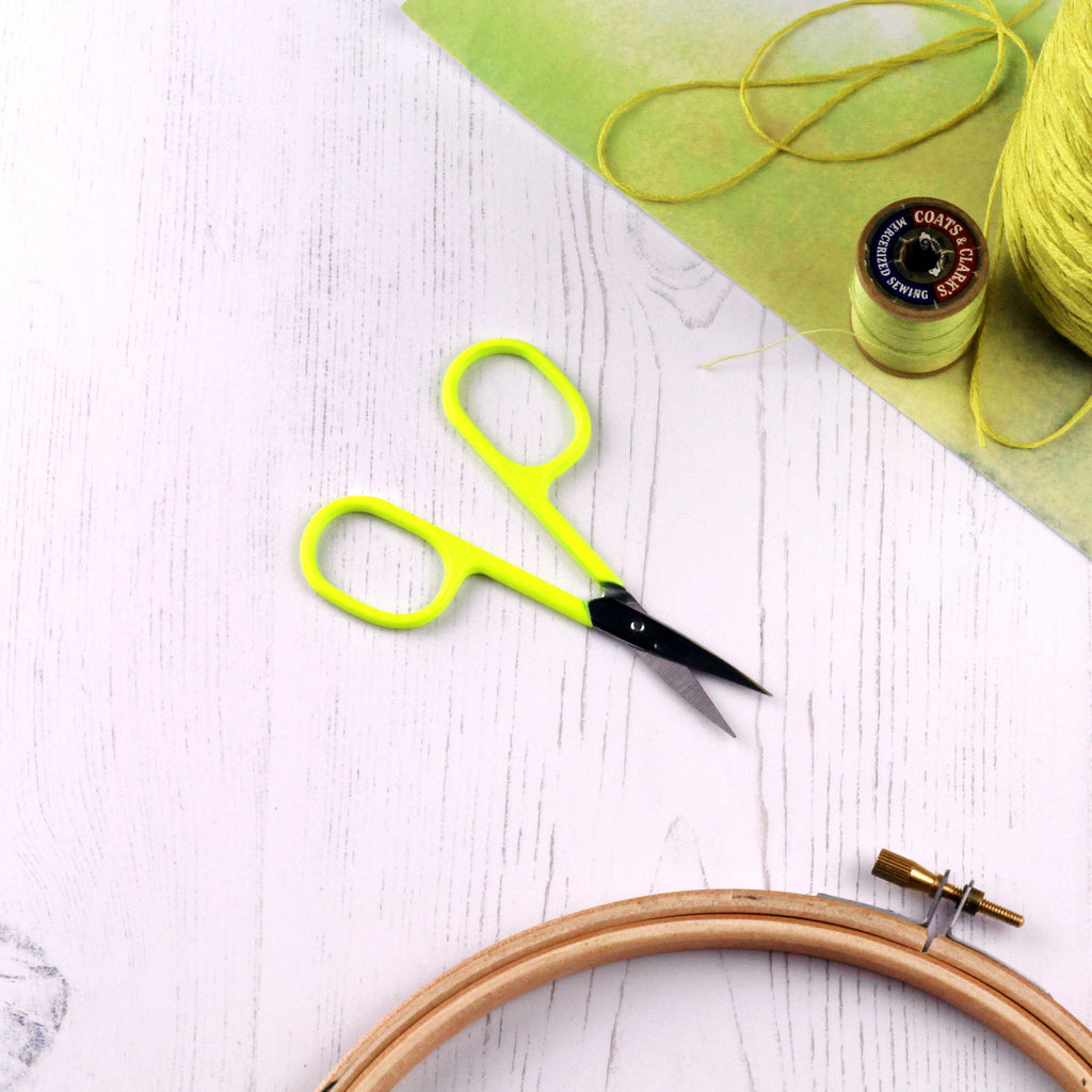 Neon Yellow Embroidery Scissors