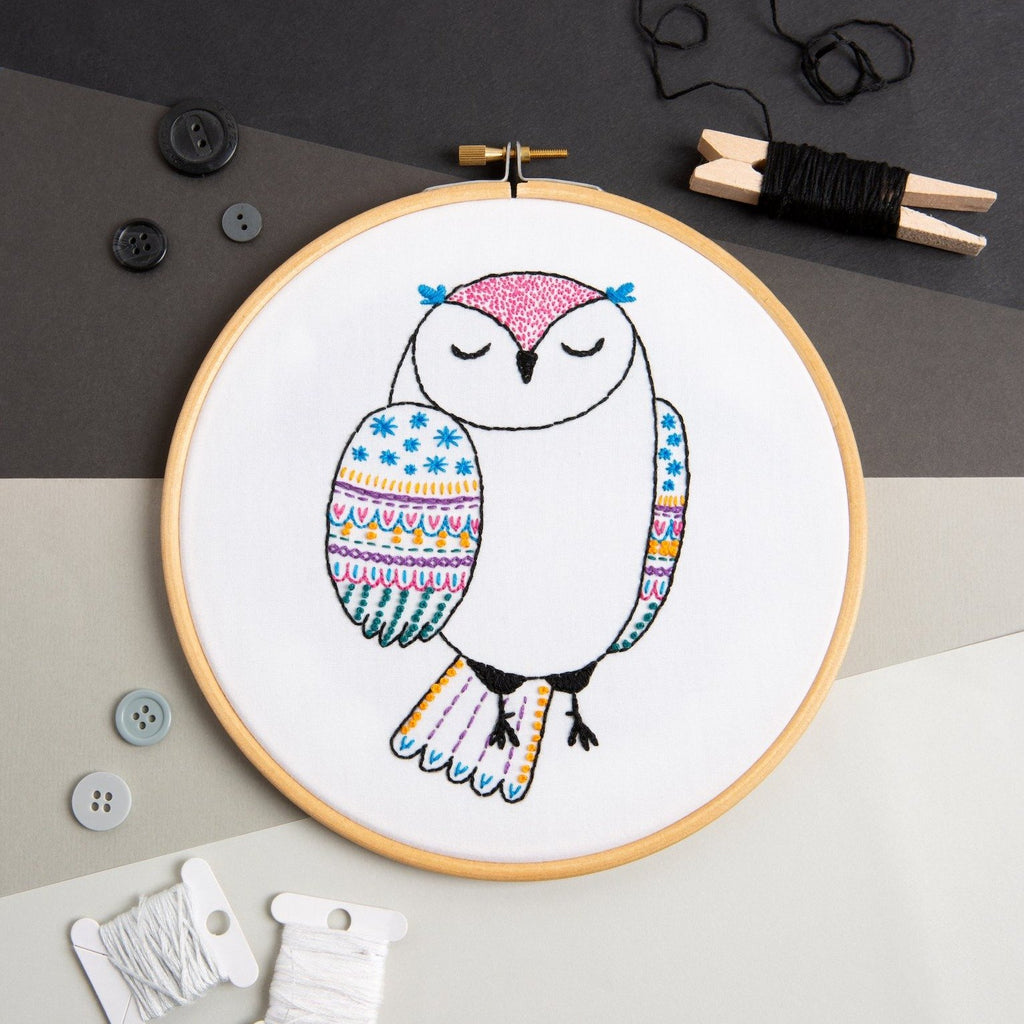 Owl Embroidery Kit