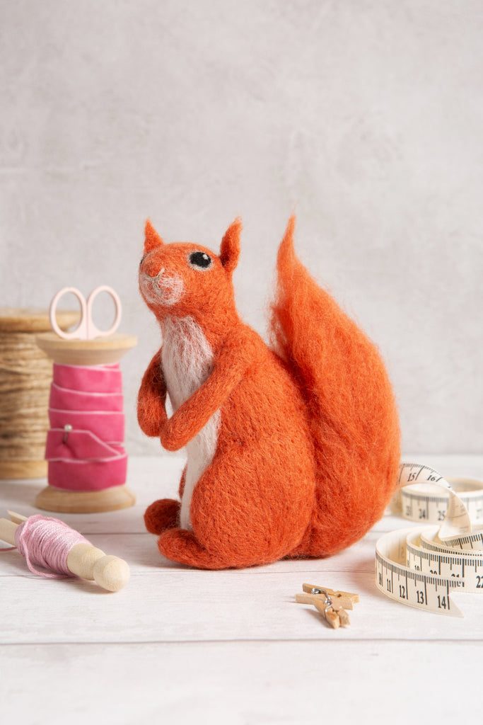 Needle Felting Red Squirrel Kit