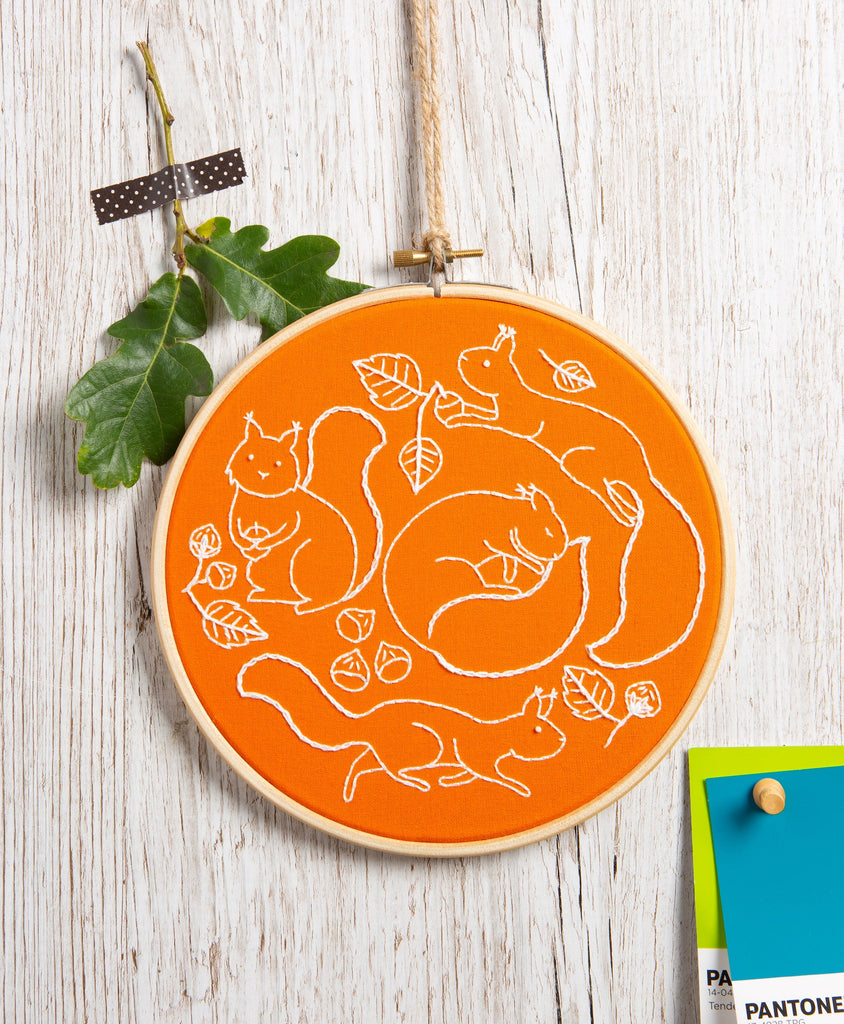 Scurrying Squirrels Embroidery Kit