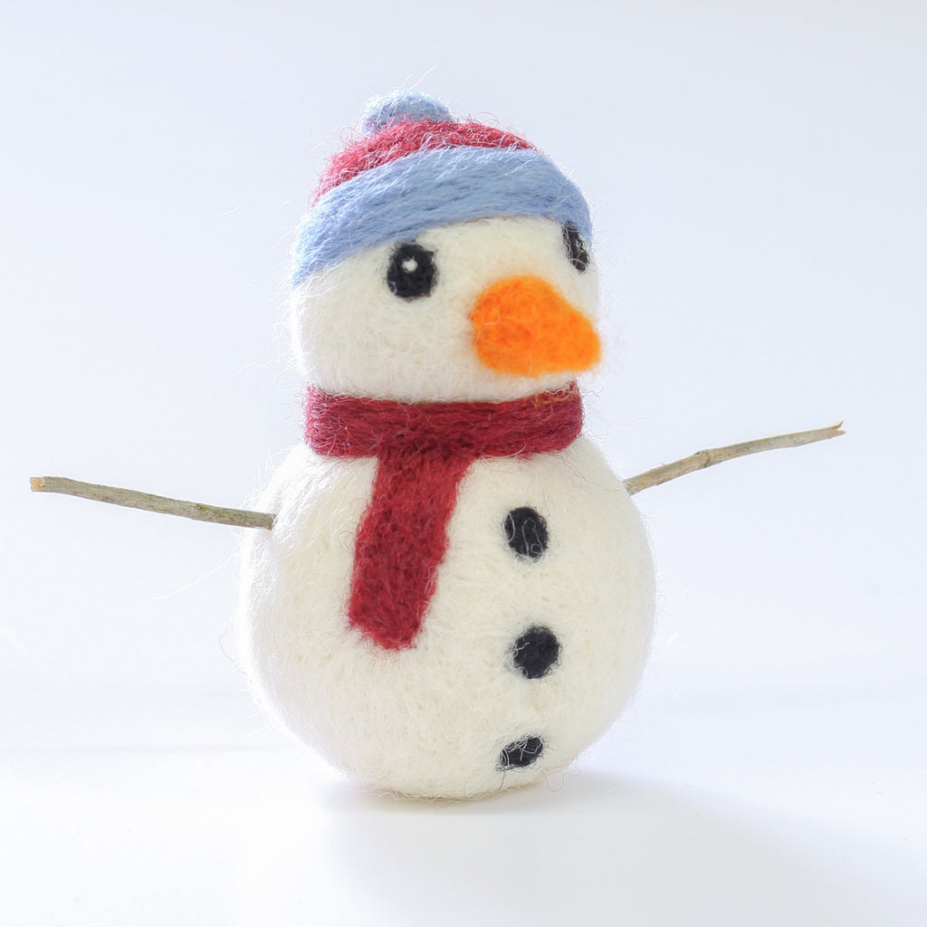 Snowman Mini Needle Felting Kit