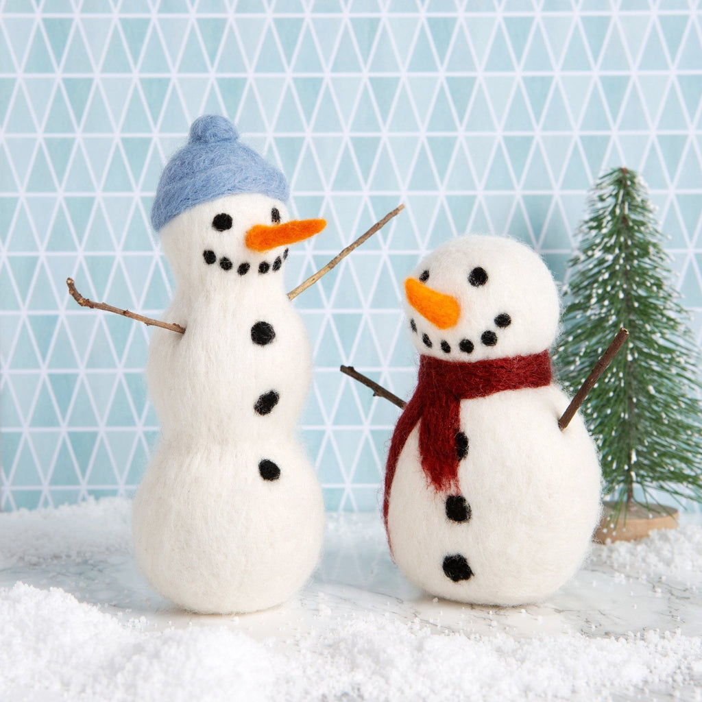 Snowmen Needle Felting Kit