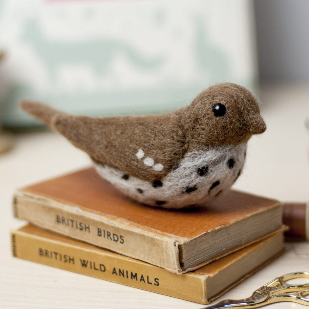 Song Thrush Needle Felting Kit