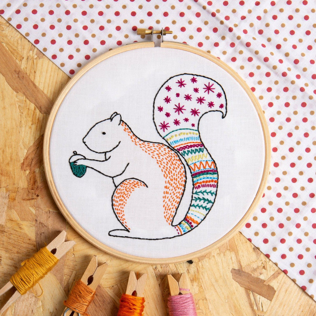 Squirrel Embroidery Kit