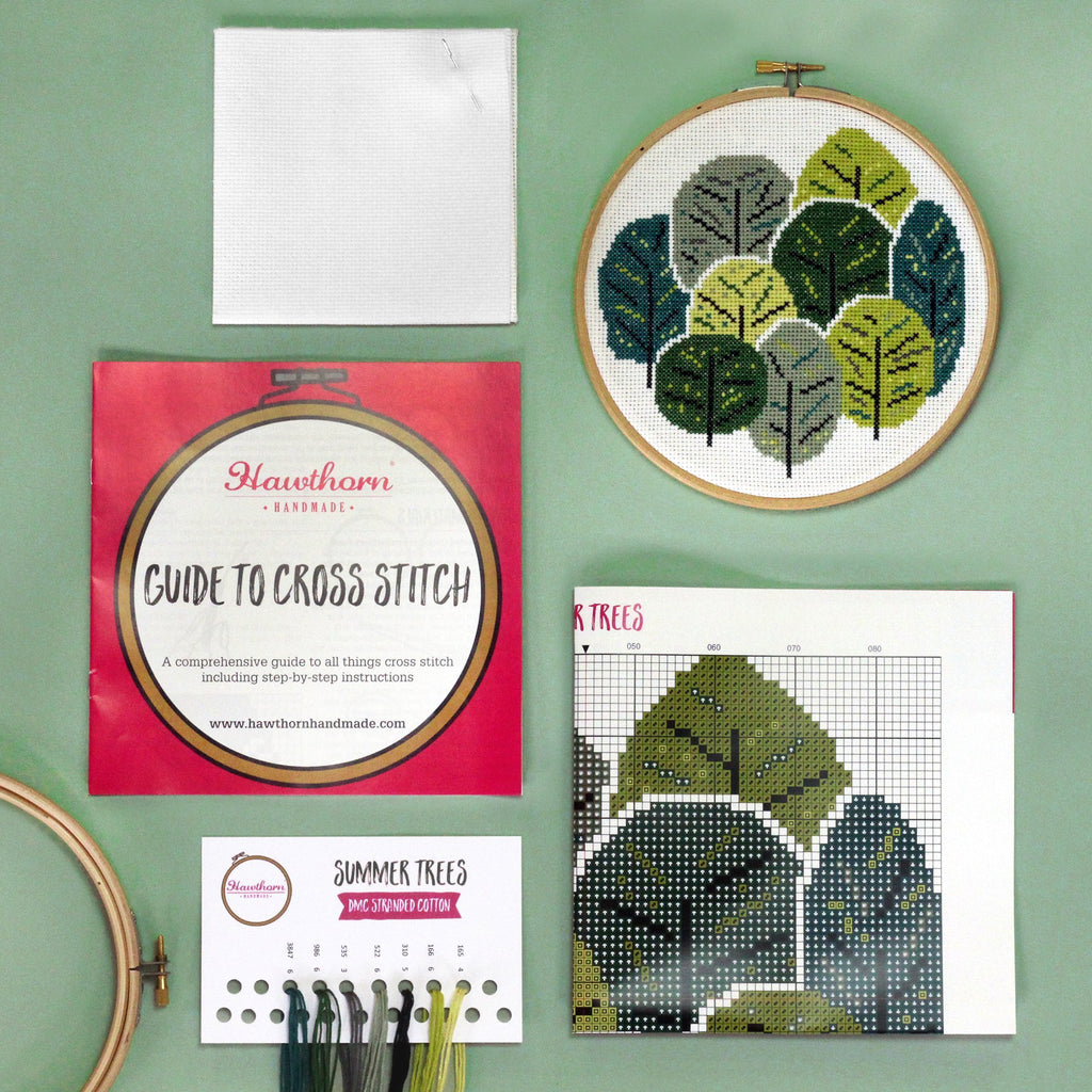 Summer Trees Cross Stitch Kit
