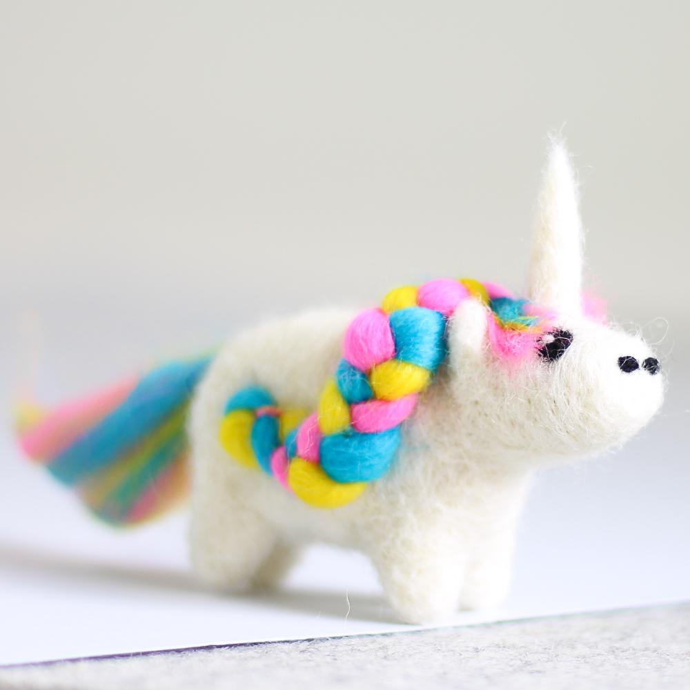 Unicorn Mini Needle Felting Kit