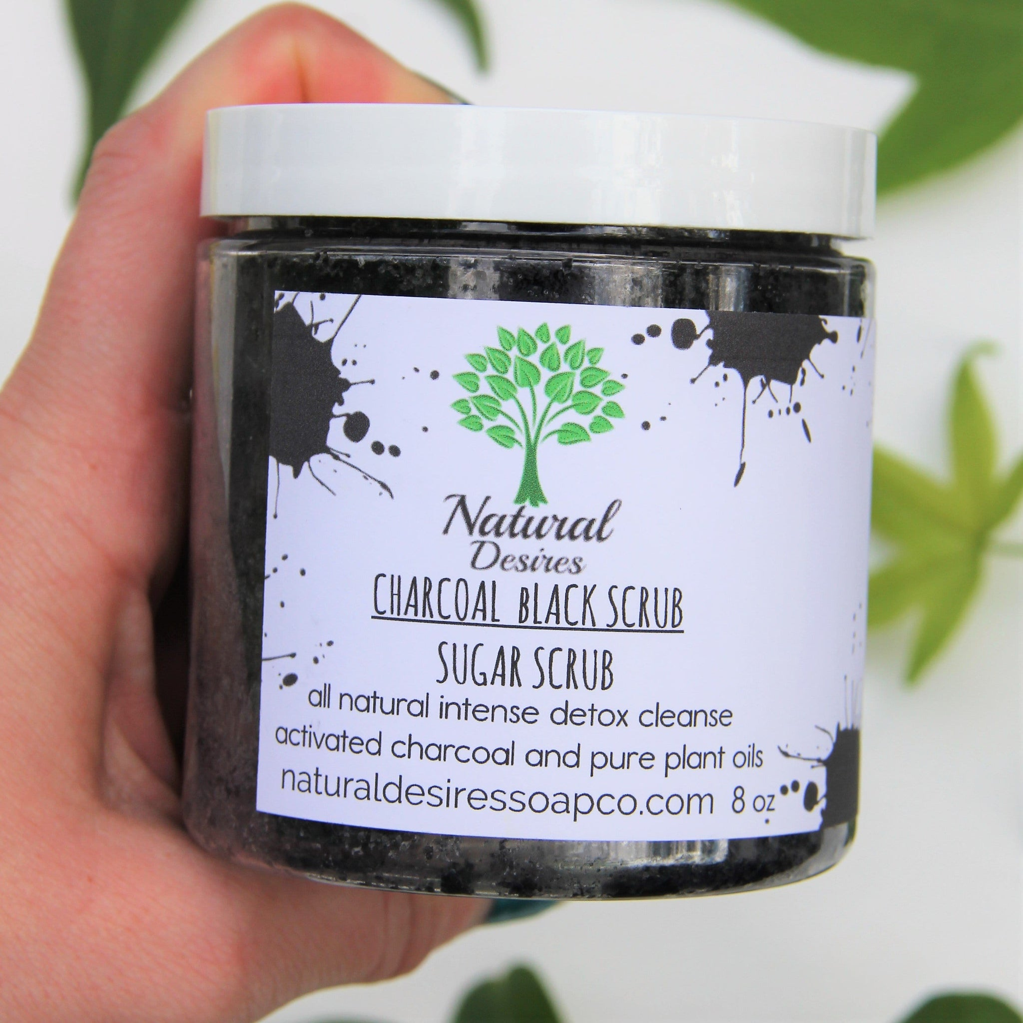 Charcoal Black Scrub| Best Charcoal Face Scrub| Charcoal Facial Scrub| Activated Charcoal Body Scrub| Handmade Jacksonville FL