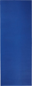 A solid blue PVC performance yoga mat.