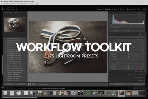 73 Workflow Toolkit Lightroom Presets Vol. I - Premium Lightroom Presets - Dreams & Spark