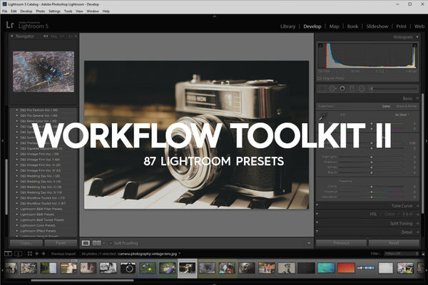 Lightroom Presets - 87 Workflow Toolkit Lightroom Presets Vol. II