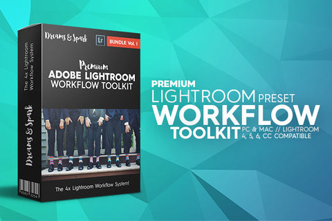 D&S Workflow Toolkit & Bonus - Premium Lightroom Presets - Dreams & Spark