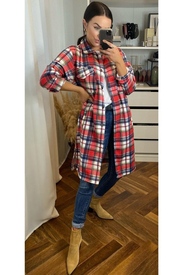 Morgan Check Jacket - Sarah Alexandra Boutique